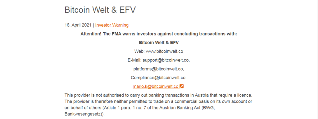 BitcoinWelt Review: Your Funds Are Not Safe With Bitcoinwelt.co