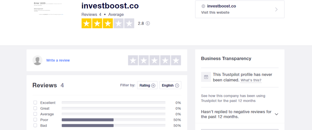 InvestBoost Review: Investboost.co Is A Fraudulent Offshore Forex broker